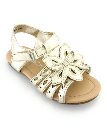 Pale Gold Flower Sandal