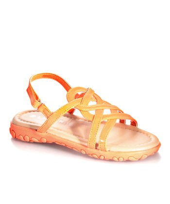 Orange Strappy Sandal
