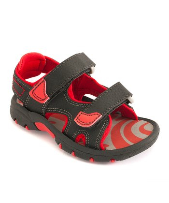 Red & Black Sandal - Kids