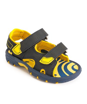 Navy & Yellow Sandal