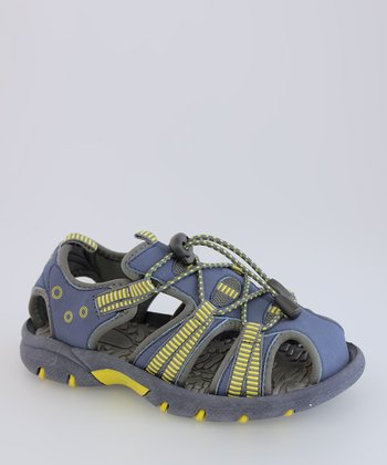 Navy & Yellow Toggle Sandal