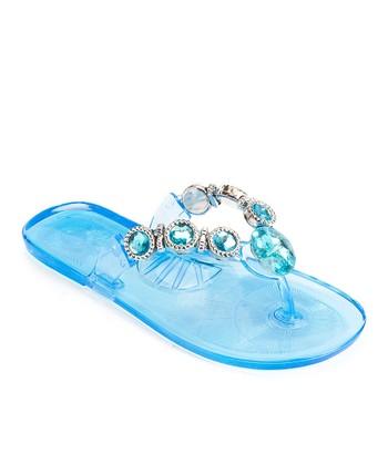 Blue Jewel Sandal