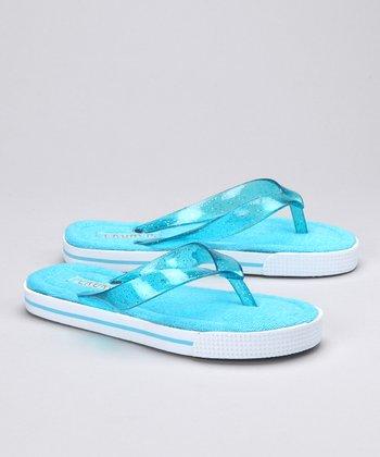 Turquoise Sparkle Flip-Flop