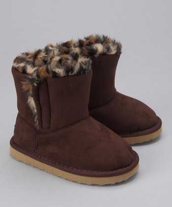 Brown Leopard Boot