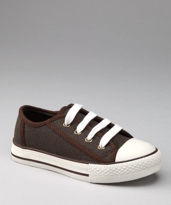 Brown Two-Tone Canvas Sneaker
