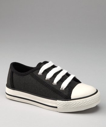 Black Two-Tone Canvas Sneaker