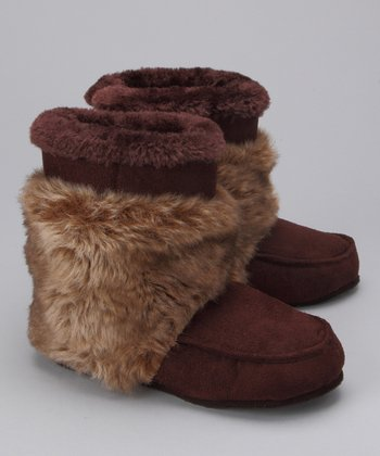 Brown Wrap Boot