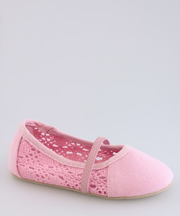 Pink Perforated Flat - Kids