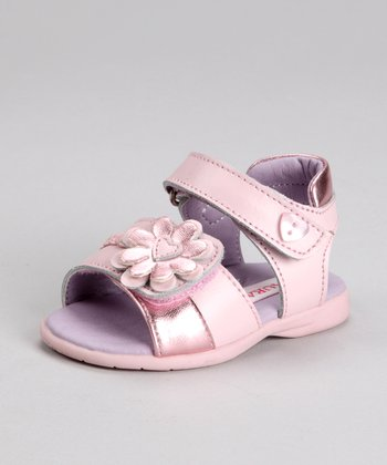 Laura Ashley Pink Daisy Heart Sandal
