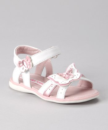Laura Ashley Pink Metallic Butterfly Sandal