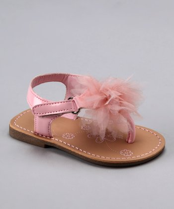 Laura Ashley Pink Puff T-Strap Sandal