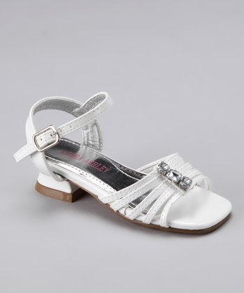 White Jewel Strap Sandal