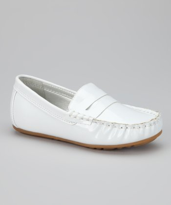 White Patent Loafer