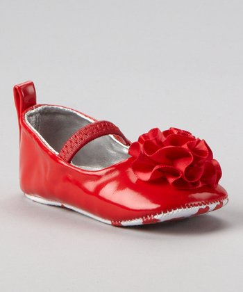 Red Patent Rose Bootie