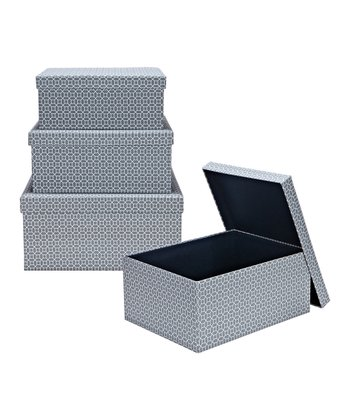 Marise Nesting Covered Storage Box Set