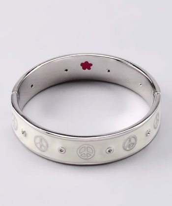 White Peace Bangle