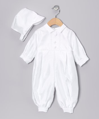 White Playsuit & Cap - Infant