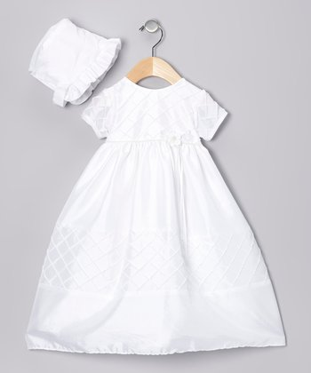 White Diamond Dress & Bonnet