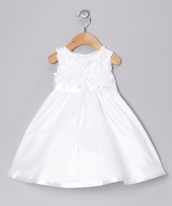 White Floral Dress - Infant