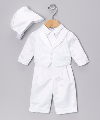 White Cross Pants Set - Infant