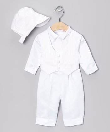 White Swirl Pants Set - Infant