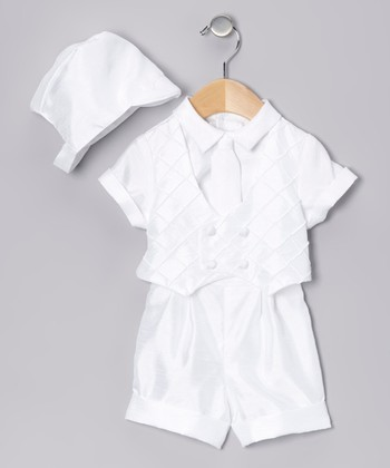 White Diamond Shorts Set - Infant