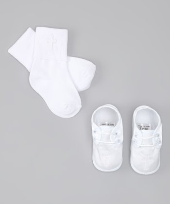 White Cross Shoes & Socks