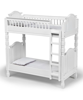 White Doll Bunk Bed Set