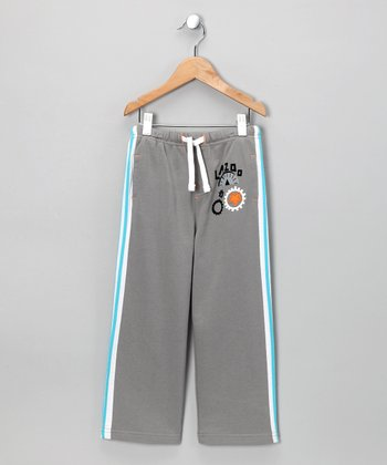 Gray Robot Sweatpants - Toddler & Boys