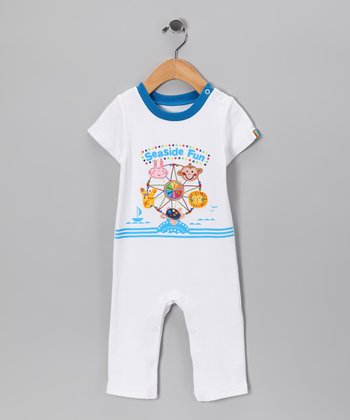 White 'Seaside Fun' Playsuit - Infant