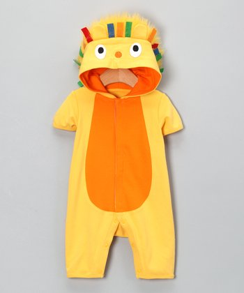 Yellow Lion Romper - Infant