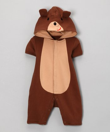 Brown Bear Romper - Infant