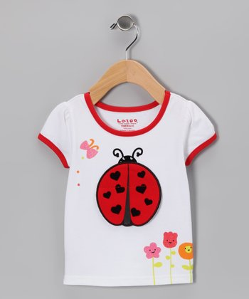 White Ladybug Tee - Infant & Toddler