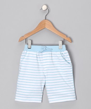 Light Blue Stripe Shorts - Infant & Toddler