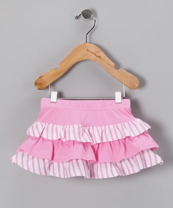 Pink Stripe Ruffle Skirt - Infant & Toddler