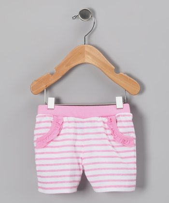 Pink Stripe Shorts - Infant & Toddler