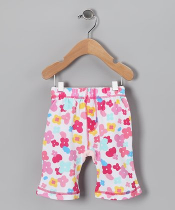 Pink Happy Flower Shorts - Toddler