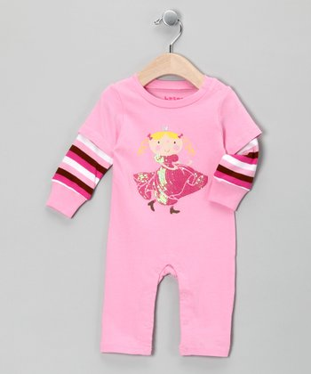 Pink Princess Layered Playsuit - Infant