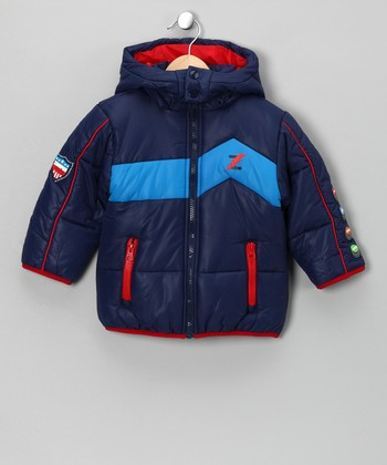 Navy Bobu Zooper Hero Jacket - Infant