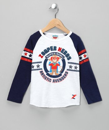 White 'Artistic Avengers' Raglan Tee - Infant & Toddler