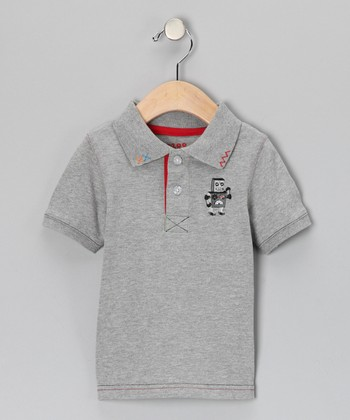 Gray Robot Polo - Infant & Toddler