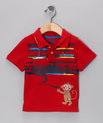 Red Monkey Polo  - Infant