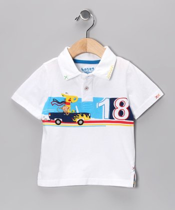 White Giraffe Polo - Infant