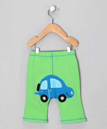 Green & Blue Car Pants - Infant & Toddler