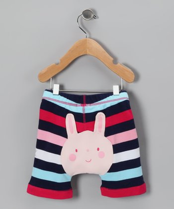 Navy Stripe Bunny Shorts - Infant & Toddler
