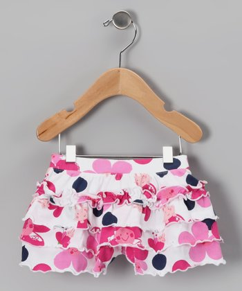 White Cherry Blossom Skort - Infant & Toddler