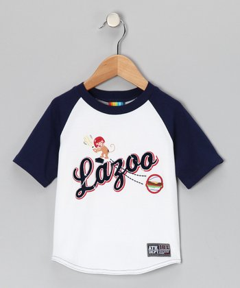 White 'Lazoo' Raglan Tee - Infant & Toddler