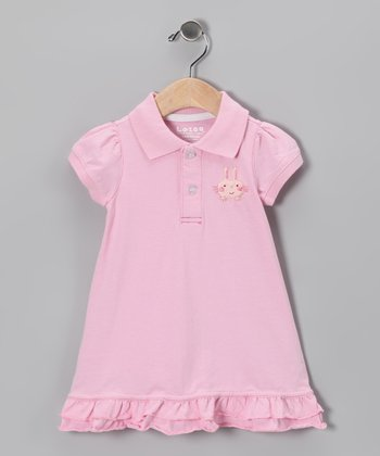 Pink Bunny Polo Dress - Infant & Toddler