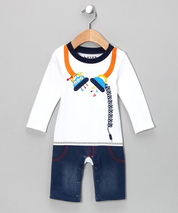 Blue Headphone Playsuit - Infant