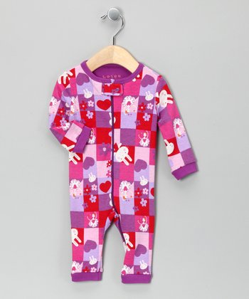 Pink & Lavender Bunny Playsuit - Infant